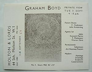 Graham Boyd. Molton & Lords, 3 September: BOYD, GRAHAM.