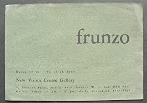 Frunzo. New Vision Centre Gallery. March 23-April: FRUNZO, VINCENZO.