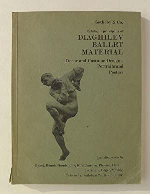 Catalogue principally of Diaghilev Ballet Material. Decor: DIAGHILEV.