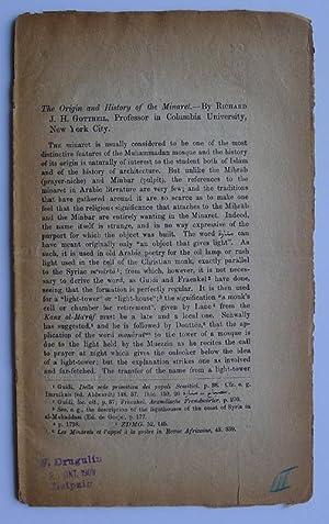 The Origin and History of the Minaret.: GOTTHEIL, RICHARD J.H.