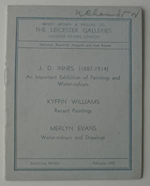 J.D.Innes (1887-1914). An Important Exhibition of Paintings: WILLIAMS, KYFFIN.
