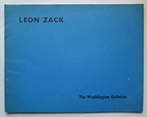 Leon Zack. The Waddington Galleries, December 1959.: ZACK, LEON.