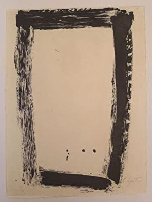 An Original Etching by Lepatre as published in  Paroles Peintures V  in 1975.