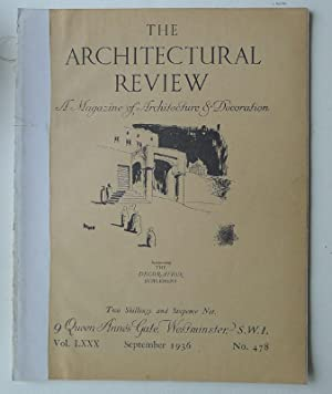 The Architectural Review. A Magazine of Architecture & Decoration. Vol. LXXX, September 1936. No....