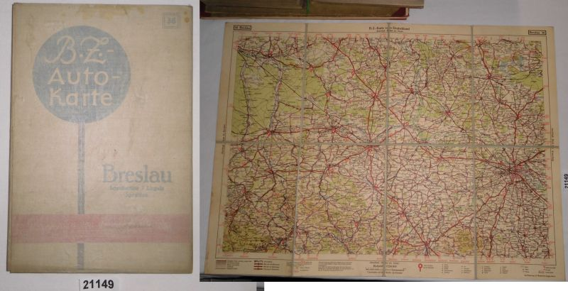 Breslau Karte 1930.Bz Karte 36 Breslau Schreiberhau Liegnitz