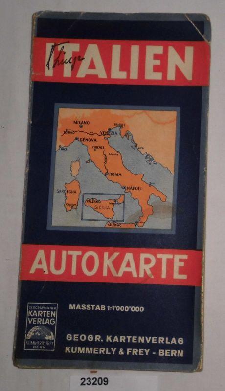 Italien Autokarte: kein Autor