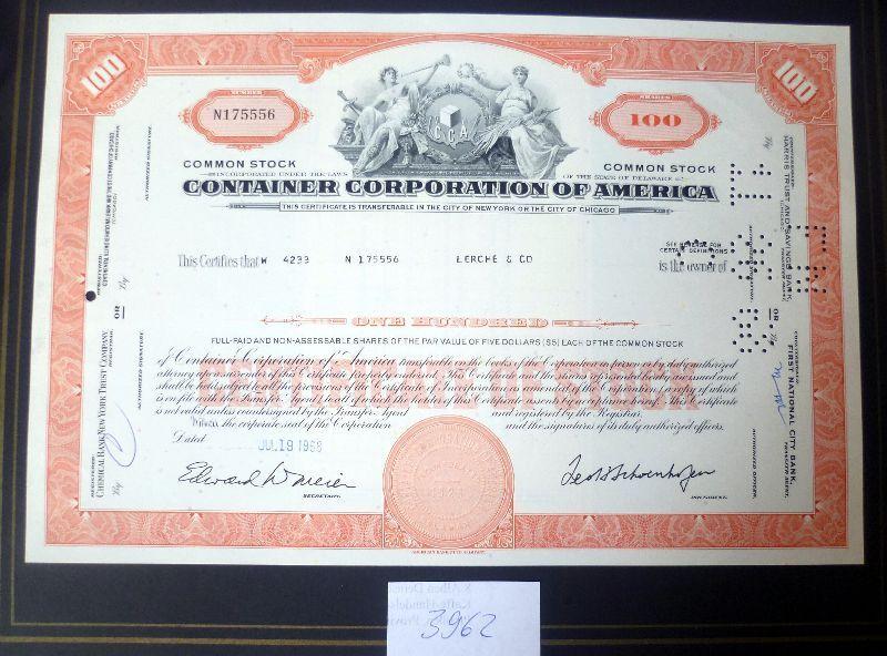 Corporation Of America 100 Shares