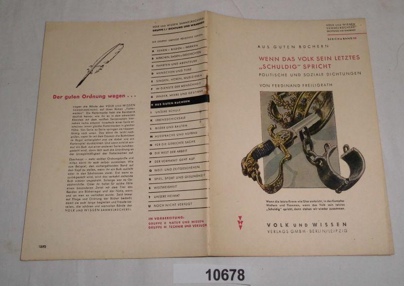 Aus guten Büchern: Wenn das Volk sein: Ferdinand Freiligrath