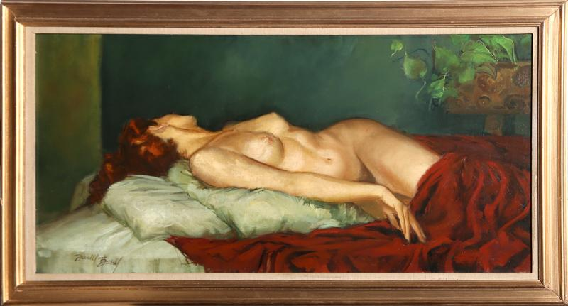 Daniel Barry, Reclining Nude, Oil Painting Fine