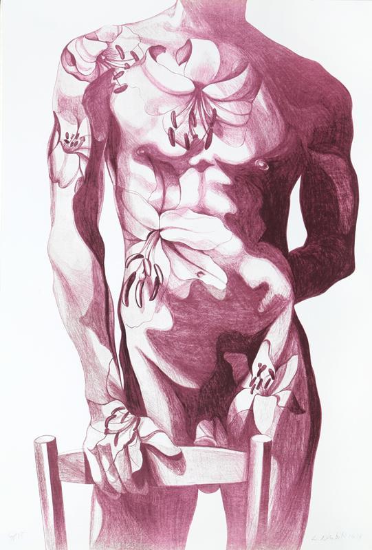Lowell Blair Nesbitt, Male Nude 5, Lithograph Fine