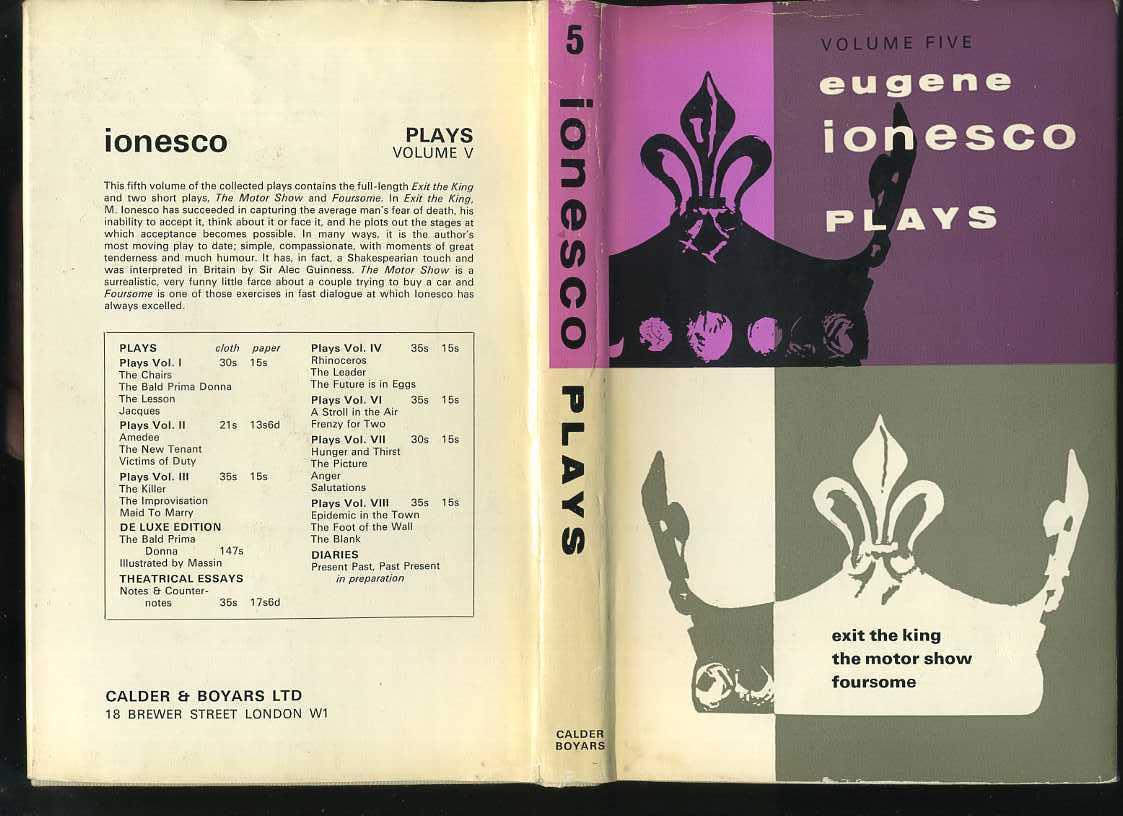 ionesco essays A critical analysis of ionesco's rhinoceros the aim of this essay is to look into and analyze ionesco's well-known play rhinoceros in the light of antonin.