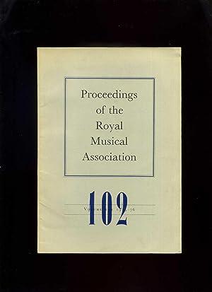 Proceedings of the Royal Musical Association, Volume: Chew, Geoffrey (Ed)