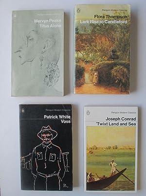 4 Penguin classics: Titus alone; Voss; 'twixt: Peake, Mervyn; White,