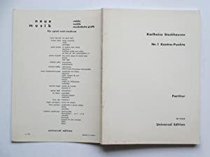 Nr. 1 Kontra-Punket: partitur: Stockhausen, Karlheinz
