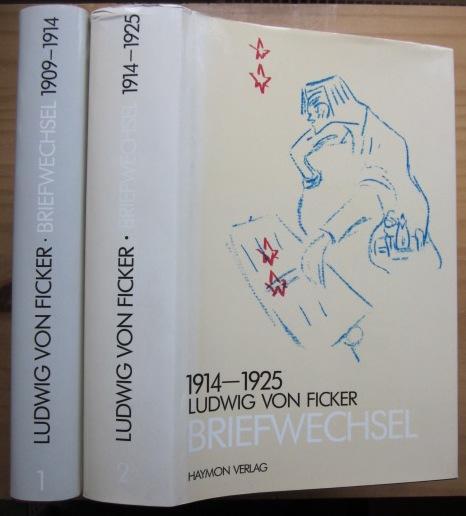 Briefwechsel. Band 1: 1909-1914. Band 2: 1914-1925.: Ficker, Ludwig von: