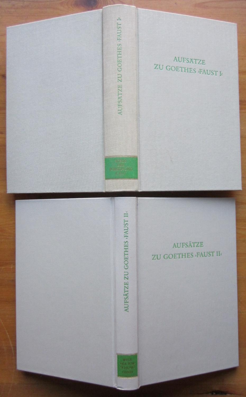 Aufsätze zu Goethes Faust.: Goethe.- Keller, Werner