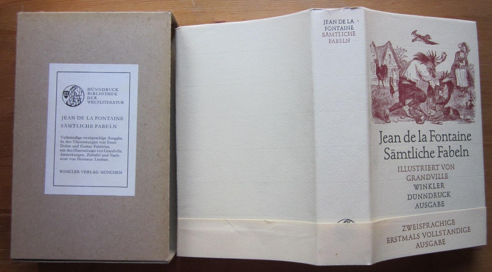 Sämtliche Fabeln. Illustriert von Grandville. Zweisprachige Ausgabe.: Fontaine, Jean de