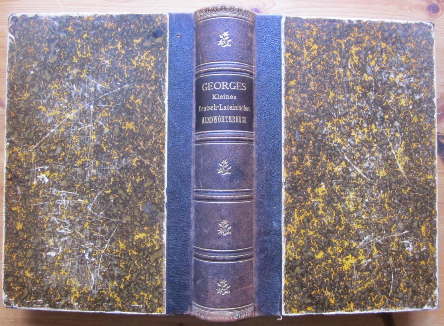 Kleines deutsch-lateinisches Handwörterbuch.: Georges, Karl Ernst: