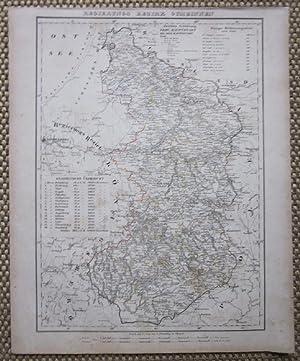Grenzkolorierte lithographierte Karte aus Sohr-Berghaus Atlas.: Gumbinnen. Regierungs Bezirk