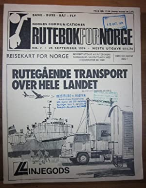 Rutebok for Norge Nr. 7/1974. Offisiell Rutebok: Norges Communicationer: