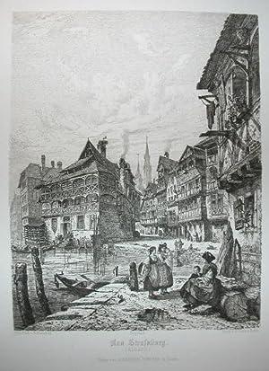 Aus Straßburg. Radierung. Blatt aus: B. Mannfeld,: Straßburg.- Mannfeld, Bernhard: