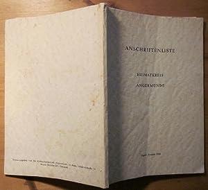 Stand: August 1964.: Angermünde.- Anschriftenliste Heimatkreis