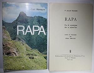 Rapa. Une île polynésienne hier et aujourd'hui.: Hanson, Allan: