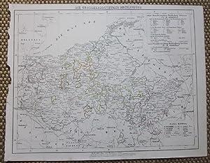 Die Grossherzogthümer Mecklenburg. Grenzkolorierte lithographierte Karte aus: Mecklenburg.