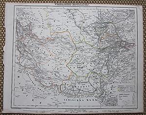 Grenzkolorierte lithographierte Karte von Handke. Aus Sohr-Berghaus: Zentralasien.- Westliches Hochasien.