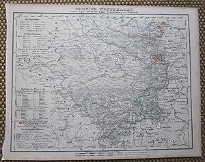 Grenzkolorierte lithographierte Karte aus Sohr-Berghaus Atlas.: Westfalen. Provinz Westphalen
