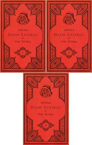 Afrika, Hand- Lexikon; Band 1- 3: Heichen, Paul Hermann