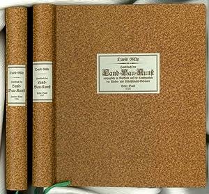 Handbuch der Land- Bau- Kunst; Theil 1 und 2 - (Pappband): Gilly, David