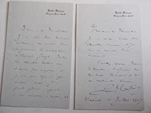2 LETTRES AUTOGRAPHES SIGNEES DE LUDOVIC HALEVY: HALEVY LUDOVIC