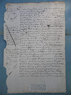 DOCUMENT MANUSCRIT SIGNE D'ANDRE FREMIOT ARCHEVEQUE DE BOURGES