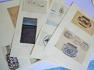 13 ETUDES DE DECORS DE FAÏENCES ART: ADRIEN AUGUSTE LEDUC