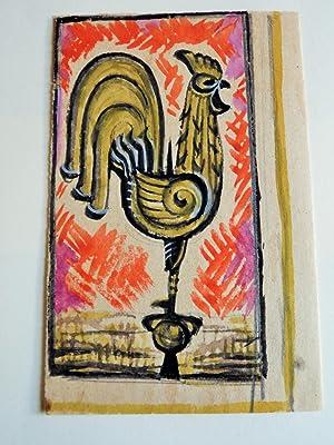 7 ETUDES ART DECO DE COQS POUR: ADRIEN AUGUSTE LEDUC