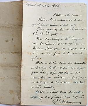L.A.S. d'Alexandre MANCEAU à URSULE JOSSE CONCERNANT: Alexandre MANCEAU Graveur