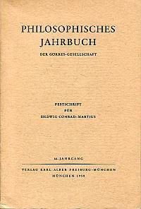Festschrift für Hedwig Conrad-Martius.