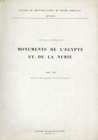 Monuments de l'Egypte et de la Nubie.