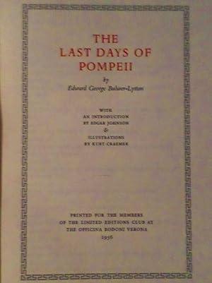 The Last Days of Pompeii.: Lytton, Edward George