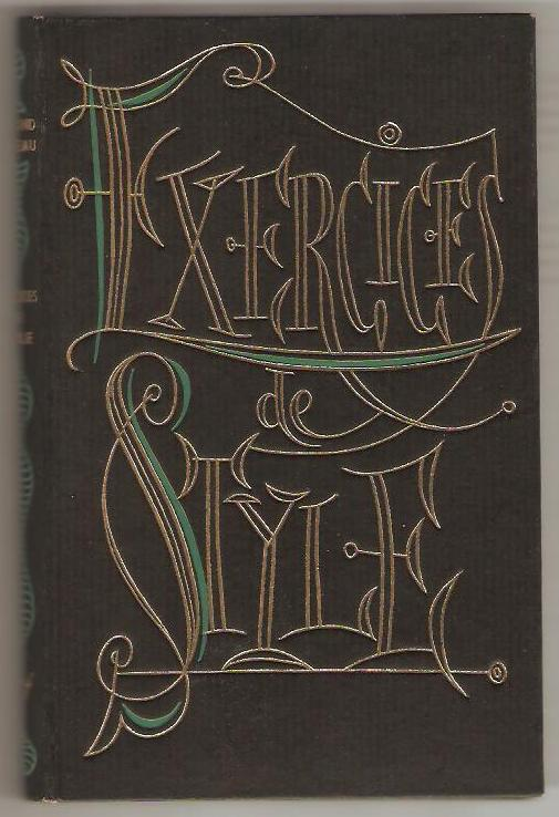 Exercices de style. by Queneau (Raymond): Bon Couverture ...
