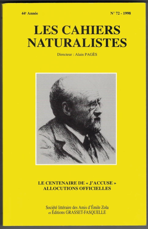 Couverture de Les cahiers naturalistes ; Zola journaliste