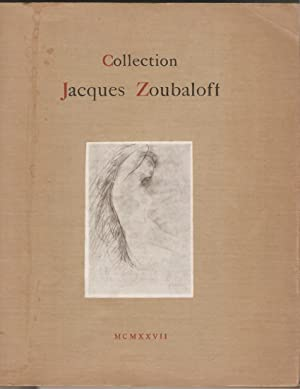 Collection Jacques Zoubaloff. Tableaux modernes, aquarelles, pastels,