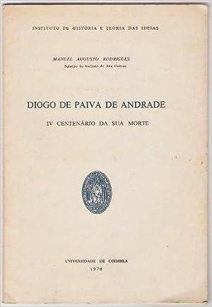 Diogo de Paiva de Andrade. IV centenario: Manuel Augusto Rodrigues