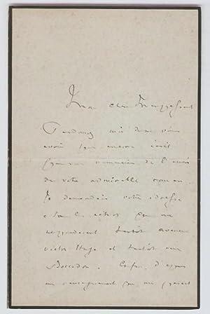 Lettre autographe signée à Guy de Maupassant.: Halévy (Ludovic)