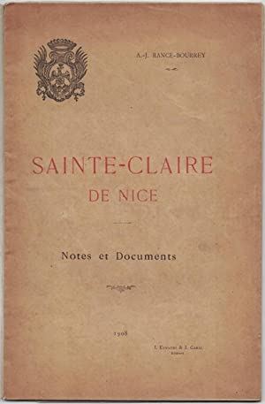 Sainte-Claire de Nice. Notes et documents.