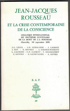 Jean-Jacques Rousseau et la crise contemporaine de: Gouhier (Henri) -