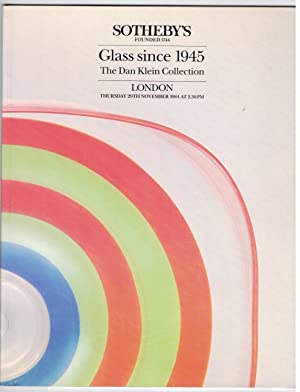 Glass since 1945. The Dan Klein Collection.