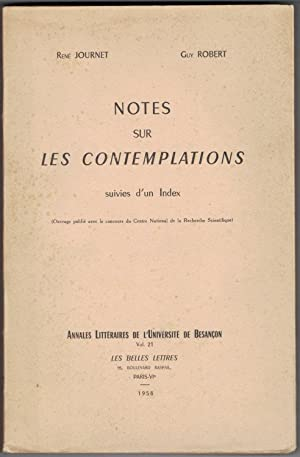 Notes sur les Contemplations suivies d'un index.