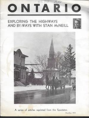 Ontario, Exploring the Highways and By-ways with Stan McNeil